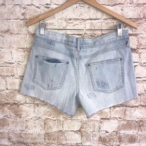 Free People Shorts - Free People Light Wash Distressed Denim Jean Short